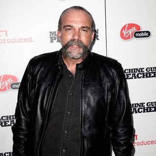 Sam Childers in Machine Gun Preacher Los Angeles Premiere