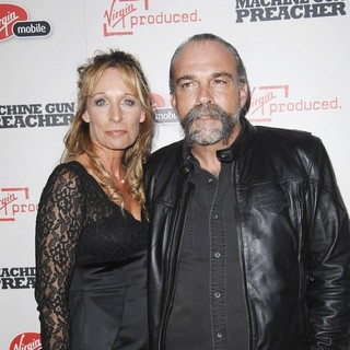 Lynn Childers, Sam Childers in Machine Gun Preacher Los Angeles Premiere