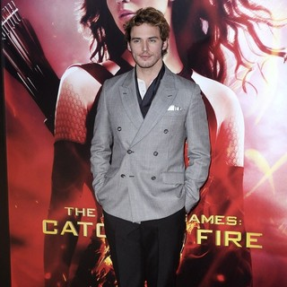 Sam Claflin in The Hunger Games: Catching Fire Premiere