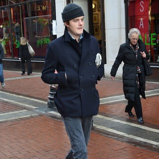 Sam Riley in Sam Riley Seen Walking Down Grafton Street with A Newspaper Under His Arm