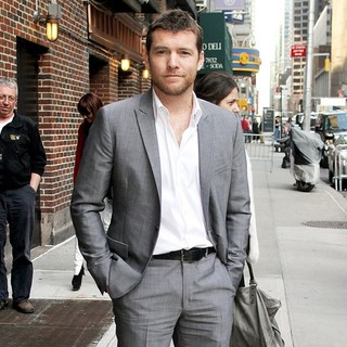 Sam Worthington in Sam Worthington Outside The Ed Sullivan Theater for The Late Show with David Letterman