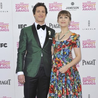 Andy Samberg, Joanna Newsom in 2013 Film Independent Spirit Awards - Arrivals
