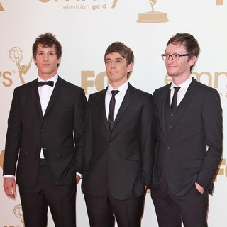 Andy Samberg, Jorma Taccone, Akiva Schaffer in The 63rd Primetime Emmy Awards - Arrivals