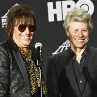 Richie Sambora, Jon Bon Jovi in 33rd Annual Rock and Roll Hall of Fame Induction Ceremony - Press Room