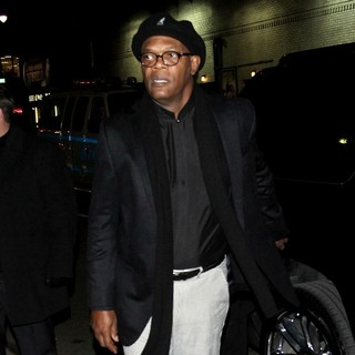 Samuel L. Jackson in Samuel L. Jackson Attends Late Show with David Letterman