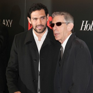 Mark Sanchez, Richard Belzer in The Premiere of Django Unchained