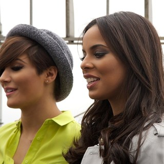 The Saturdays, Frankie Sandford, Rochelle Wiseman in The Saturdays Promoting Chasing The Saturdays