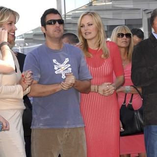 Adam Sandler, Malin Akerman in Jennifer Aniston Is Honored with A Star on The Hollywood Walk of Fame