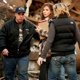Sandra Bullock in On The Set of New Film 'Extremely Loud and Incredibly Close'