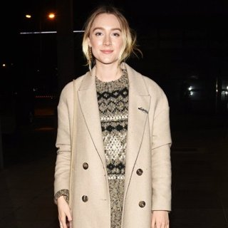 Saoirse Ronan Arrives at RTE Studios for The Late Late Show