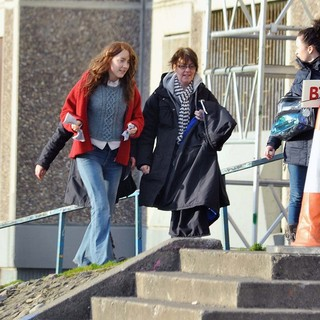 Saoirse Ronan in Gemma Arterton and Saoirse Ronan During A Break from Filming Byzantium