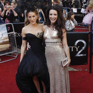 Sarah Jessica Parker, Kristin Davis in UK Film Premiere of Sex and the City 2