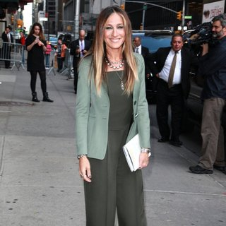 Sarah Jessica Parker Attend the Late Show with David Letterman