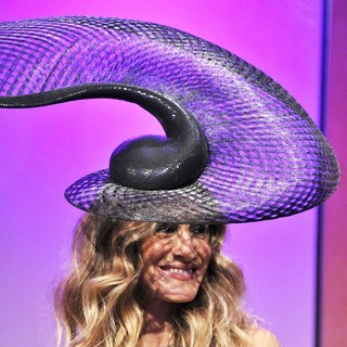 Sarah Jessica Parker in Sarah Jessica Parker Wearing A Hat Designed by Philip Treacy at The VRC Oaks Club Ladies Luncheon