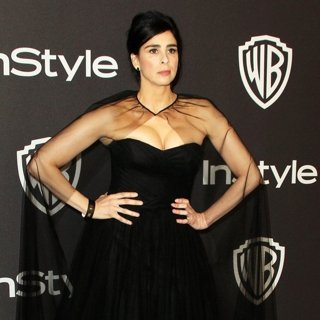 Sarah Silverman in InStyle Warner Bros Golden Globe After Party 2019