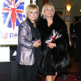 Jennifer Saunders, Judy Craymer in VIVA Forever Spice Girls The Musical - Arrivals