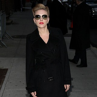 Scarlett Johansson in The Late Show with David Letterman - Arrivals