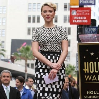 Scarlett Johansson in Scarlett Johansson Is Honored with A Star on The Hollywood Walk of Fame