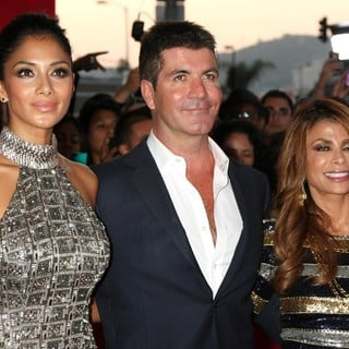 Nicole Scherzinger, Simon Cowell, Paula Abdul in The X-Factor Premiere Screening - Arrivals