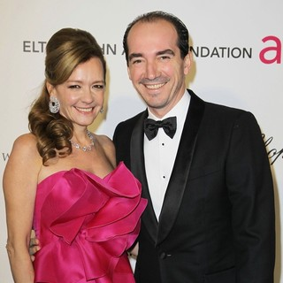 Caroline Scheufele, Alexis Veller in 21st Annual Elton John AIDS Foundation's Oscar Viewing Party