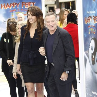 Susan Schneider, Robin Williams in World Premiere of Happy Feet Two