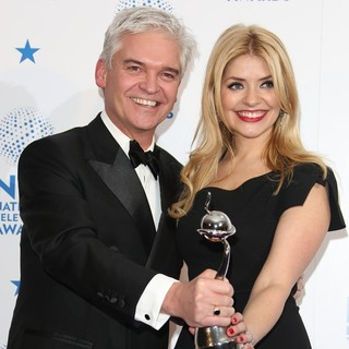 Phillip Schofield, Holly Willoughby in National Television Awards 2013 - Press Room