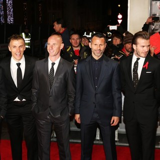 Paul Scholes, Phil Neville, Nicky Butt, Ryan Giggs, David Beckham, Gary Neville in The World Premiere of The Class of 92 - Arrivals