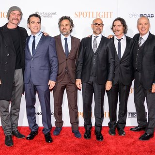 Liev Schreiber, Brian d'Arcy James, Mark Ruffalo, Stanley Tucci, Billy Crudup, , Michael Keaton in New York City Premiere of Spotlight