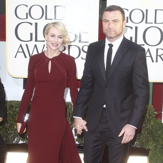 Naomi Watts, Liev Schreiber in 70th Annual Golden Globe Awards - Arrivals