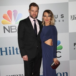 Travis Schuldt, Natalie Zea in NBC-Universal's 72nd Annual Golden Globes After Party - Arrivals