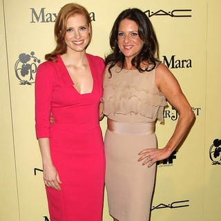 Jessica Chastain, Cathy Schulman in 5th Annual Women in Film Pre-Oscar Cocktail Party