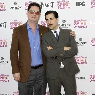 Jason Schwartzman, Roman Coppola in 2013 Film Independent Spirit Awards - Arrivals