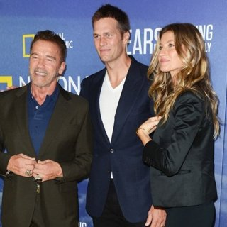 Arnold Schwarzenegger, Tom Brady, Gisele Bundchen in National Geographic's Years of Living Dangerously Season 2 World Premiere - Red Carpet Arrivals