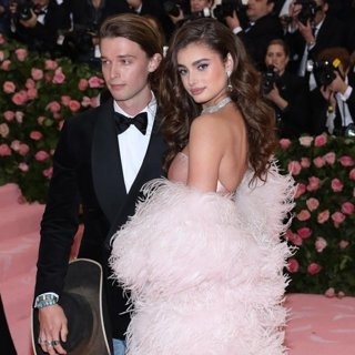 Patrick Schwarzenegger, Taylor Hill in The 2019 Met Gala Celebrating Camp: Notes on Fashion