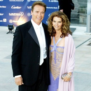 Arnold Schwarzenegger, Maria Shriver in Laureus Sports Awards 2003