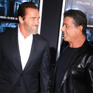 Arnold Schwarzenegger, Sylvester Stallone in New York Movie Premiere for Escape Plan