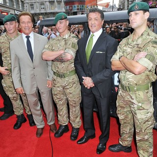 Arnold Schwarzenegger, Sylvester Stallone in The Expendables 2 UK Premiere - Arrivals