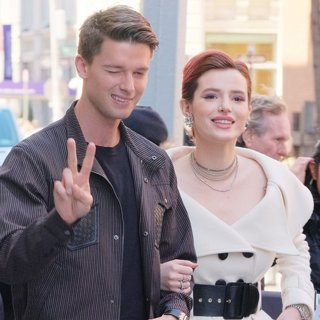 Patrick Schwarzenegger, Bella Thorne in Bella Thorne and Patrick Schwarzenegger Leaving AOL Build