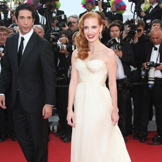 David Schwimmer, Jessica Chastain in Madagascar 3: Europe's Most Wanted Premiere- During The 65th Cannes Film Festival