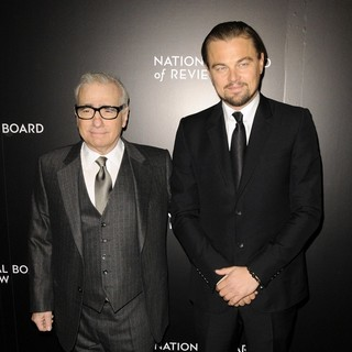 Martin Scorsese, Leonardo DiCaprio in 2014 National Board of Review Awards Gala