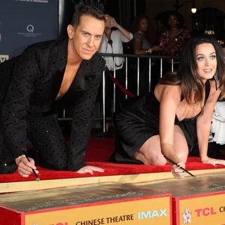 Jeremy Scott and Katy Perry Are Honored During Their Hand Print Ceremony