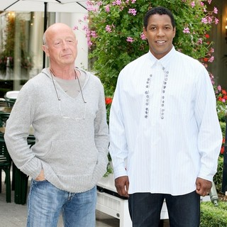 Tony Scott, Denzel Washington in The Taking of Pelham 123 Photocall