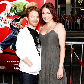 Seth Green, Clare Grant in 'Scott Pilgrim vs. the World' Los Angeles Premiere