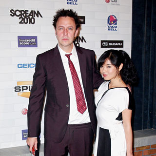 James Gunn, Mia Matsumiya in Spike TV's 'Scream 2010 Awards' - Arrivals