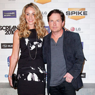 Tracy Pollan, Michael J. Fox in Spike TV's 'Scream 2010 Awards' - Arrivals