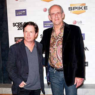 Michael J. Fox, Christopher Lloyd in Spike TV's 'Scream 2010 Awards' - Arrivals