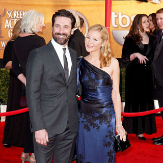 Jon Hamm, Jennifer Westfeldt in 16th Annual Screen Actors Guild Awards - Arrivals