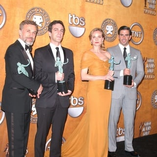 Christoph Waltz, B.J. Novak, Diane Kruger, Eli Roth in 16th Annual Screen Actors Guild Awards - Press Room
