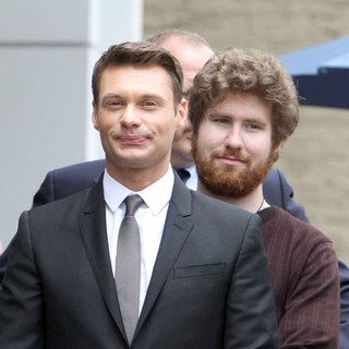 Ryan Seacrest, Casey Abrams in Simon Fuller Receives A Star on The Hollywood Walk of Fame
