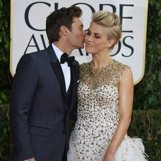 Ryan Seacrest, Julianne Hough in 70th Annual Golden Globe Awards - Arrivals